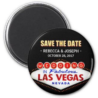 Wedding no sinal de Las Vegas - economias do néon Ímã Redondo 5.08cm