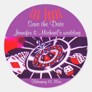 Wedding roxo de Las Vegas da paixão Adesivo