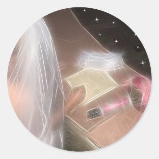 Wedding sob as estrelas adesivo