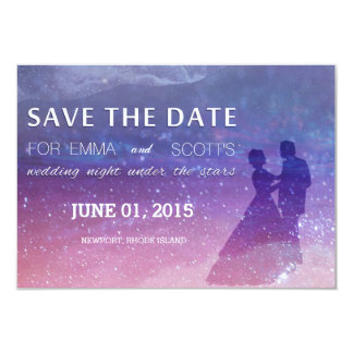 Wedding sob as estrelas salvar a dança do casal da convite 8.89 x 12.7cm