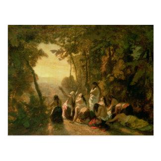 Weeping da filha de Jephthah, 1846 Cartão Postal