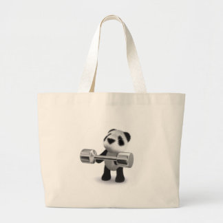 Weightlifter da panda do bebê 3d bolsa para compra