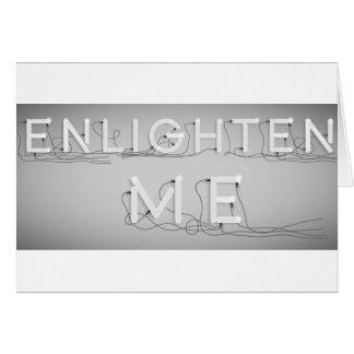 Wellcoda ilumina-me lâmpada elétrica do bulbo cartão comemorativo