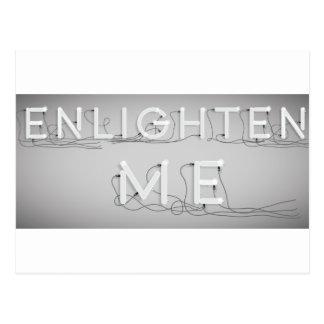 Wellcoda ilumina-me lâmpada elétrica do bulbo cartão postal