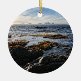Westcoast de Scotland, ilha de Jura Ornamento De Cerâmica Redondo