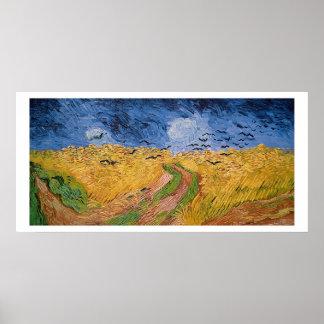 Wheatfield com corvos, 1890 de Vincent van Gogh | Pôster
