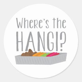 Wheres o HANGI? (Banquete maori de Nova Zelândia) Adesivo