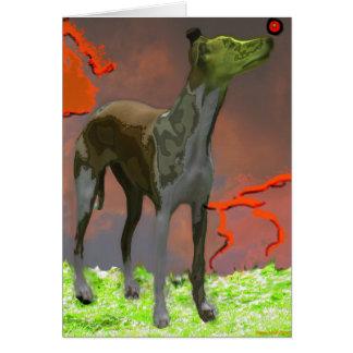 Whippet com esfera vermelha 1 - cartão