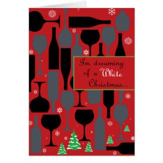 White Christmas Cartão Comemorativo