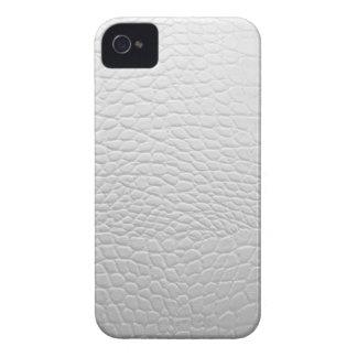 White crocodile leather capinha iPhone 4