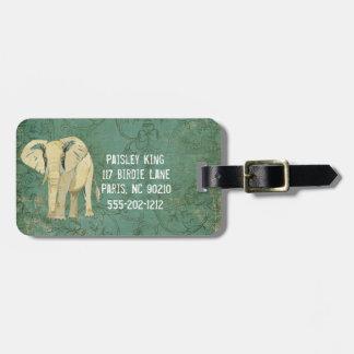White Elephant Luggage Tag