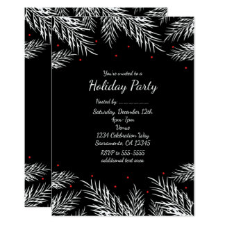 White Pine & convites pretos do feriado das bagas