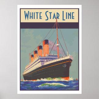 White Star Line (Titanic) Posteres