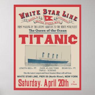 WHITE STAR LINE Titanic Posters