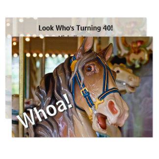 Whoa! Olhe quem é cavalo que de 40 carrosséis o Convite 12.7 X 17.78cm