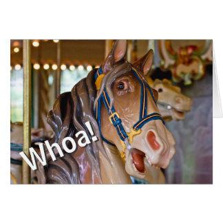 Whoa! Olhe quem é feliz aniversario do cavalo de Cartão