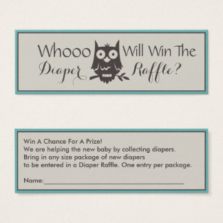 Whoo ganhará o design da coruja do Raffle da Cartão De Visitas Mini