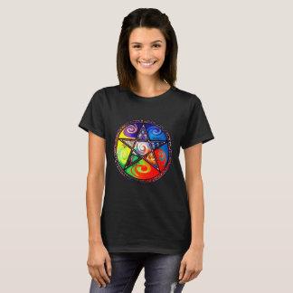 Wiccan cinco elementos camiseta