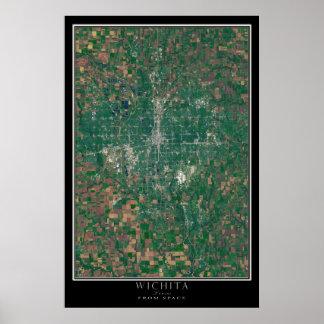 Wichita Kansas da arte do satélite do espaço Poster