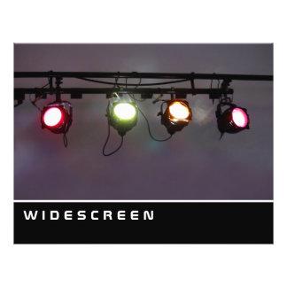 Widescreen - fileira dos projectores panfletos
