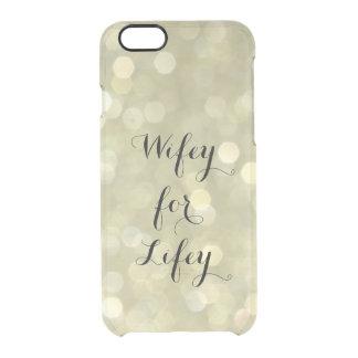 Wifey para o caso do iPhone 6/6s do ouro de Lifey Capa Para iPhone 6/6S Transparente