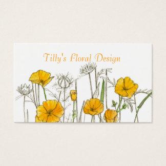 Wildflower do cartão de visita da flor da papoila