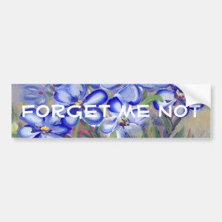 Wildflowers azuis em uma pintura das belas artes adesivo para carro