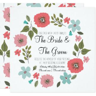 Wildflowers da primavera que Wedding o convite