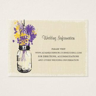 Wildflowers do frasco de pedreiro do cartão do Web