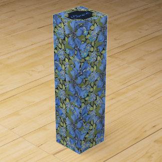 Wildflowers do miosótis dos azul-céu caixas para garrafas de vinho