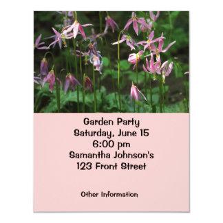 Wildflowers - lírios de jovem corça convite 10.79 x 13.97cm