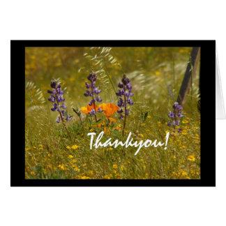 Wildflowers Thankyou! Cartão