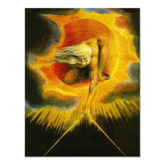 William Blake antigo dos dias Convite 10.79 X 13.97cm