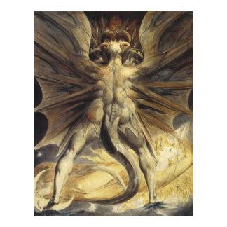 William Blake - o grande dragão vermelho e a mulhe Panfleto Personalizado