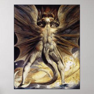 William Blake: O grande dragão vermelho Pôster