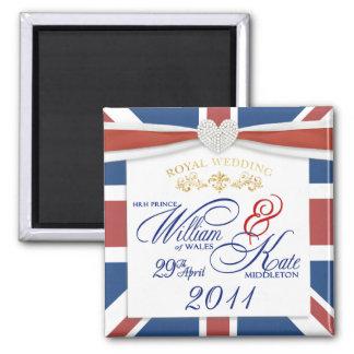 William & Kate - ímãs comemorativos do casamento Imã
