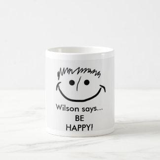 Wilson diz que a caneca inspirada esteja FELIZ!