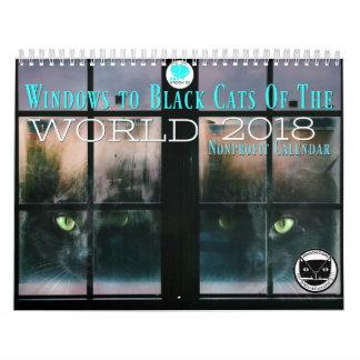 Windows aos gatos pretos do calendário do mundo