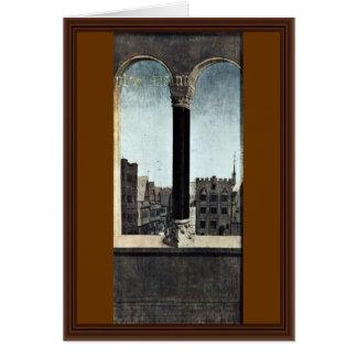 Windows com arcadas e paisagem urbana por Eyck Hub Cartoes