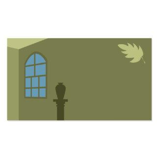 Windows e cartão de visita das folhas