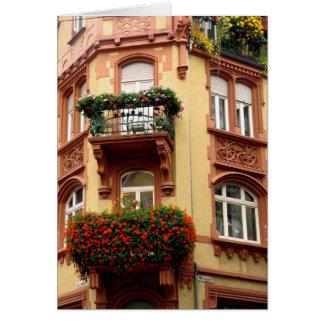 Windows no cartão de nota de Heidelberg
