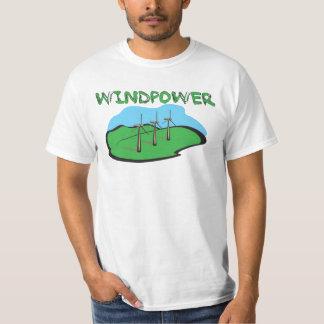 WindPower - design da camisa das energias eólicas Camiseta