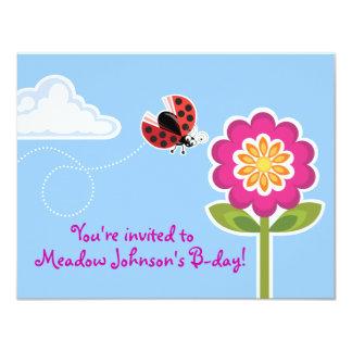 Wing-Nutz™_Ladybug_sweet & festa de aniversário do Convite 10.79 X 13.97cm