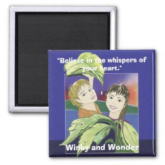 Winky e ímã da maravilha ímã quadrado