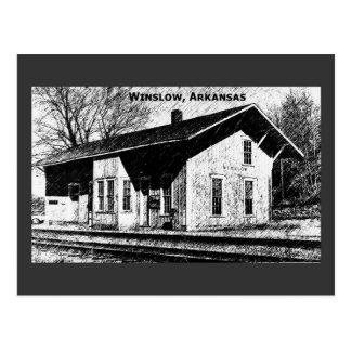 Winslow, cartão do depósito de trem da AR