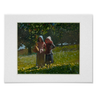 Winslow Homer (1836-1910), Apple que escolhe, 1878 Pôster