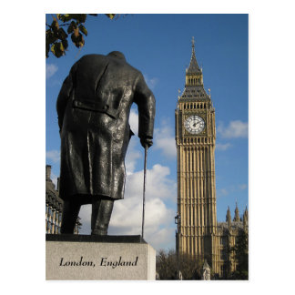 Winston Churchill e cartão de Big Ben, Londres