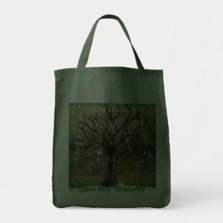 Wintertree vai saco verde sacola tote de mercado