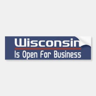 Wisconsin está aberto para o negócio adesivo para carro