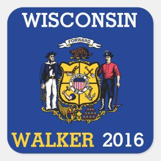Wisconsin para o caminhante 2016 de Scott Adesivo Quadrado